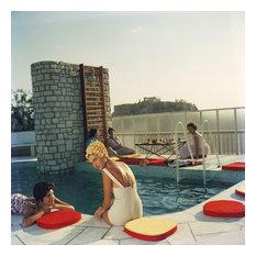 "Slim Aarons ""Penthouse Pool"" Photograph"