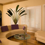 Wood Blinds Traditional Living Room Seattle By