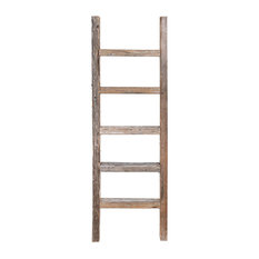 Asher Decorative Reclaimed Barn Wood Ladder, 4'