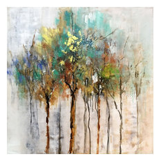 """International Image & Canvas - """"Color Me Trees"""" Hand Painted Canvas Art - Paintings"""