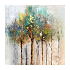 """""""Color Me Trees"""" Hand Painted Canvas Art"""