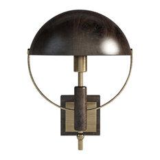 Faraday Smoked Walnut and Brass Wall Light