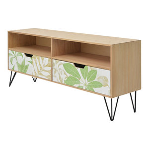 vidaXL Printed TV Cabinet, 120x30x50 cm, Brown