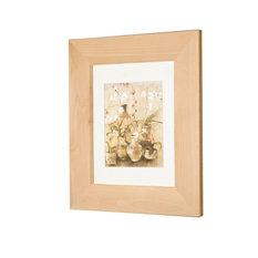 "Concealed Picture Frame Medicine Cabinet, Unfinished Flat, 14""x18"""