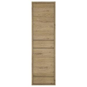 2-Door 2-Drawer Narrow Cabinet