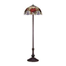 "63"" Renaissance Rose Floor Lamp"