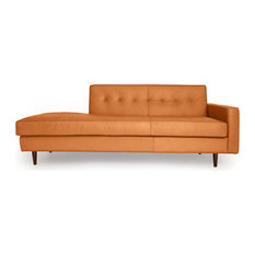 Kardiel - Eleanor Sofa Right, Canyon Aniline Premium Leather - Sofas