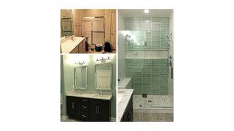 Contemporary Master Bathroom Remodel in Rockville Maryland
