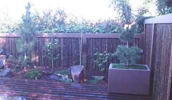 Ipe & Black Bamboo Fence