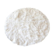Faux-Fur Sheepskin Rug, 30""