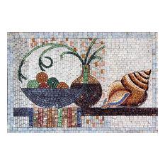 "Mosaic Designs, Mollusco, 16""x24"""