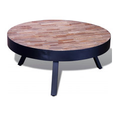 VidaXL Reclaimed Teak Round  Coffee Table