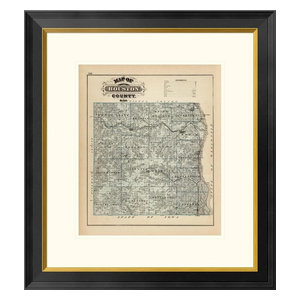 Map Of Houston County Minnesota 1874 Paper Print By A T Andreas 15 X18 Contemporary Prints And Posters By Global Gallery