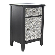 Traditional 32-inchx20-inch Wood And Iron Side Cabinet