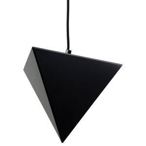 Small Geometric Steel Pendant Light, Black
