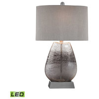 Haarlem 1 Light Table Lamp in Storm Grey And Pewter