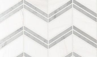Bianco Dolomite Chevron Mosaic MSI