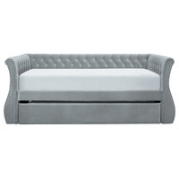Timmins Daybed With Trundle, Gray