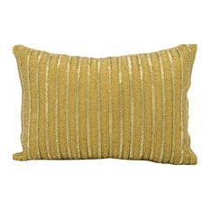 Nourison Michael Amine Beaded Stripes Z9010 Throw Pillow, Gold