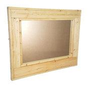 """Herringbone Stained Vanity Mirror, Unfinished, 42""""x30"""", Horizontal"""