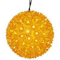 """7.5"""" Starlight Sphere Christmas Ornament, 100 Gold Wide Angle LED Lights"""
