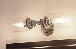 Luxury Industrial Bathroom Vanity Light, Lincoln Series, Aged Nickel