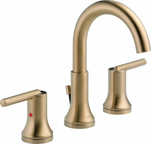 Matching Brizo Litze Brilliance Luxe Gold Tub and shower