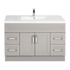 Morning Dew 48'' Contemporary Vanity 2 Door 4 Drawer With Single Bowl Top