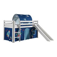 Pino Midsleeper Children's Astro Bed Set With Slide, 3-Piece Set