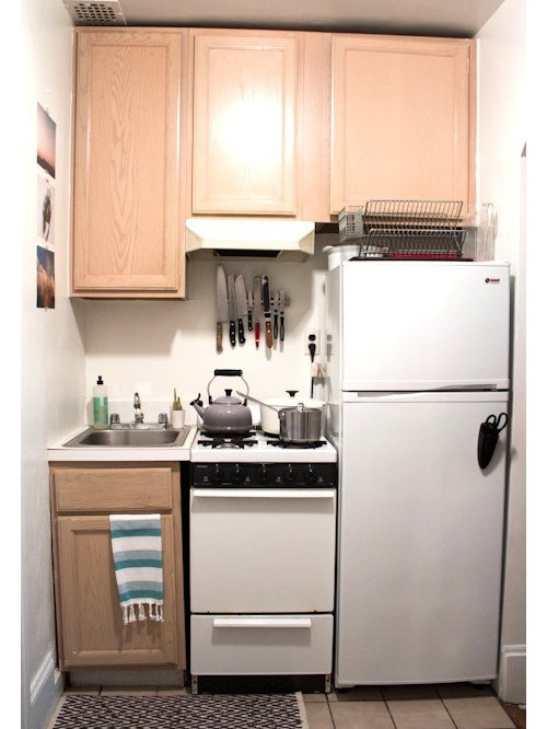 New york city small kitchens houzz for Houzz small kitchens