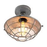 Industrial ceiling lamp antique silver 25.5 cm - Course
