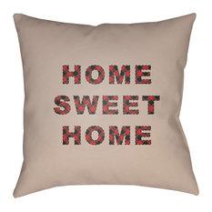Surya HOME SWEET HOME 20  x20   Medium Square Throw Pillow
