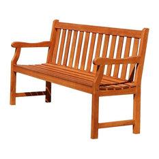 Vifah - Vifah Baltic Outdoor Wood 5' Garden Bench - Outdoor Benches