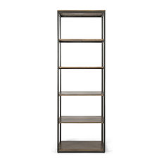 Brikk - Maxwell Industrial Wood and Metal Shelving Unit - Display and Wall Shelves
