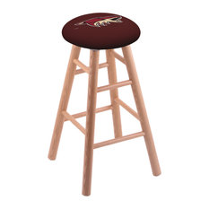 Oak Extra Tall Bar Stool Natural Finish With Arizona Coyotes Seat 36-inch