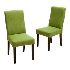 GDFStudio   Heath Fabric Dining Chairs, Green, Set Of 2   Dining Chairs