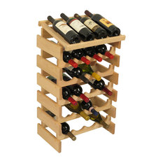 24-Bottle Wine Rack, Unfinished Finish