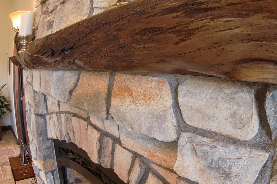 Nester customized D Plan - Monterey Cypress Wain Edge Mantel