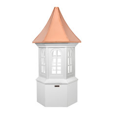 """Smithsonian Georgetown Vinyl Cupola With Copper Roof, 30""""x67"""""""