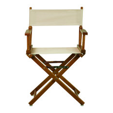 """18"""" Director's Chair With Honey Oak Frame, Natural/Wheat Canvas"""
