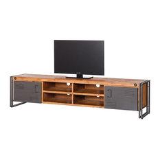 Tv möbel industrial design  Industrial TV- & Hifi-Möbel: TV-Wandhalterung und DVD-Regal - Houzz