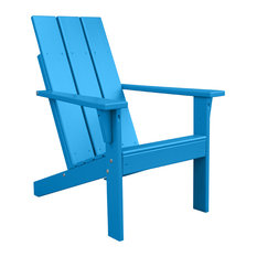 Porchgate   Porchgate Amish Made Heavy Duty Modern Adirondack Chair,  Carribean Blue   Adirondack Chairs