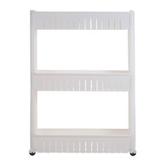 """core products - Everyday Home 3 Tier Slide Out Laundry Cart on Rollers-Only 5"""" wide - Pantry Cabinets"""