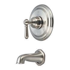 Single Handle Tub Trim Set, PVD Brushed Nickel
