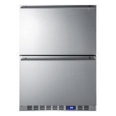 Summit Lamp Corp. - Summit Stainless Steel Two-Drawer Refrigerator Freestanding/Built-in - Refrigerators