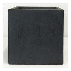 Square Box Contemporary Faux Lead Light Concrete Planter H75 L75 W75 cm