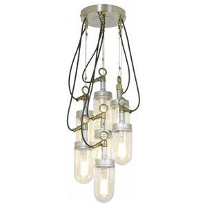 7-Bulb Galvanised Well Glass Pendant Light