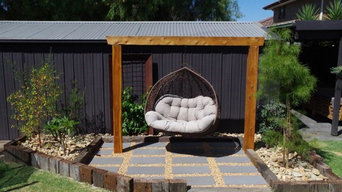 Torii inspired Hanging chair relaxation area