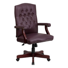 leather tufted office chair | houzz