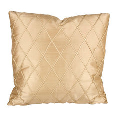 Dupioni Diamond Petite 90/10 Duck Insert Pillow With Cover, 18x18